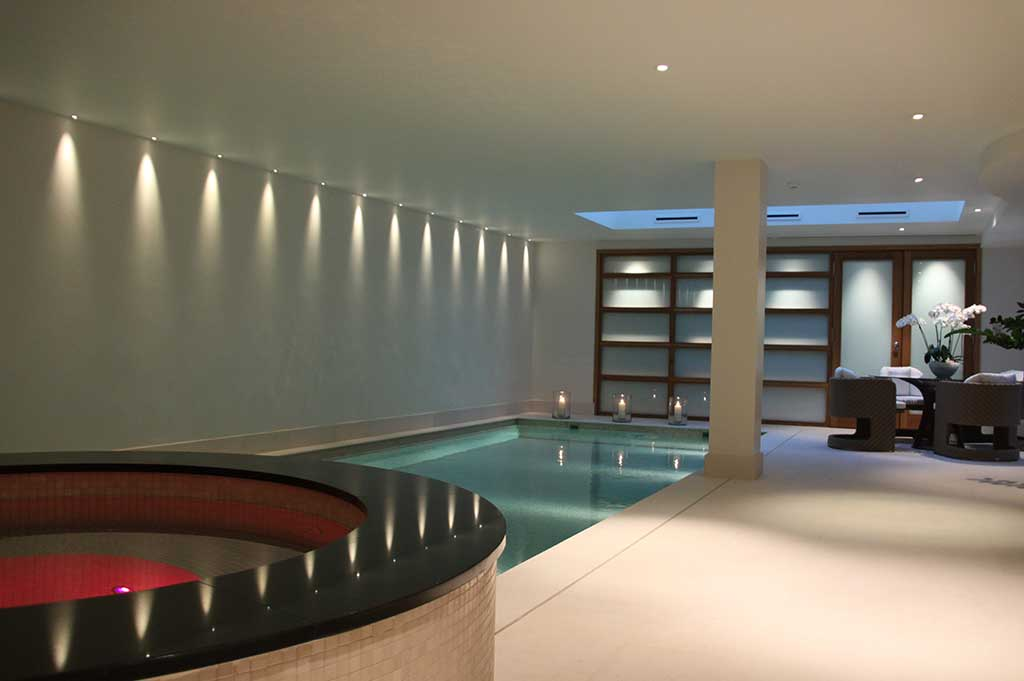 fibre optic lighting in private pool - 2