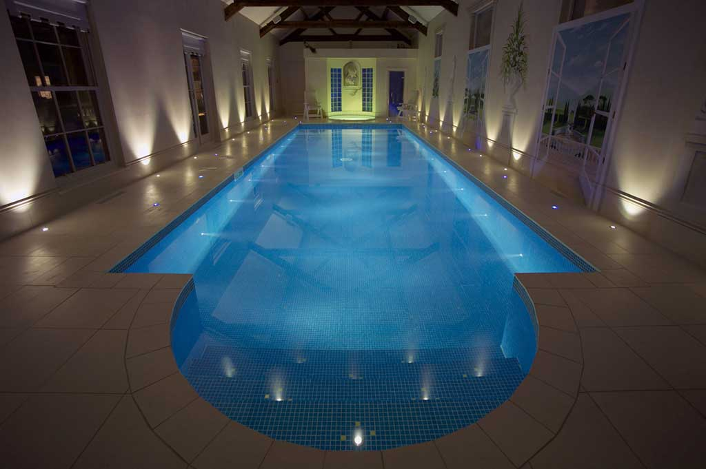 fibre optic lighting in private pool - 3