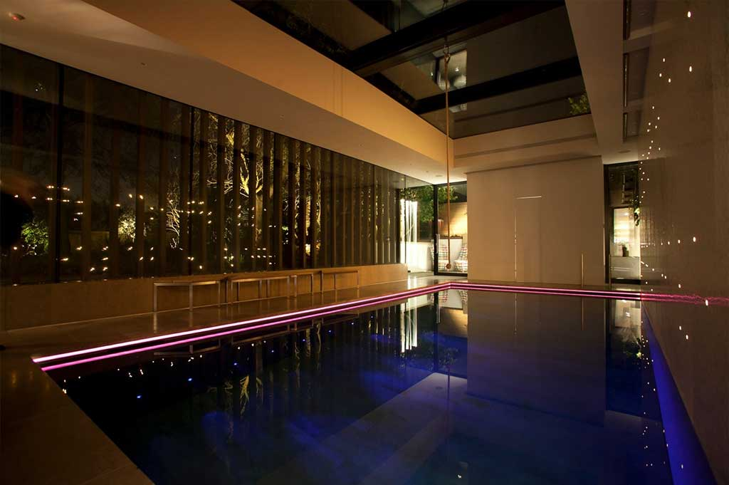 fibre optic lighting in private pool - 4